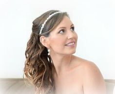 Bridal Hair Crown, Wedding hair accessories, Beaded Headband With Pearls And Crystals - JOY
