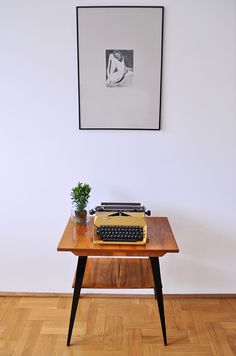 Łucznik Predom typewriter and  table from 70's