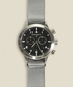 - Stainless steel - Cutting edge military and aviation watch - Watch face: 12mm thick, 48mm wide, 45mm crystal diameter - Swiss Ronda 5040.D movement - Extended 54 month battery life - Screw strap pins that offer strength of military fixed pins while enabling flexibility to switch up watchbands - Water resistant up to 150 ft.