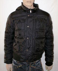 """Boy Quilted Jacket Winter Coat Hooded Jacket  Down Anorak Size M Black Piumino Nero con Cappuccio da Ragazzo """" Oviesse Young """" Taglia M di BeHappieWorld su Etsy"""