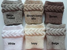 Learn how to knit these so I don't have to buy these!