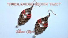"""Tutorial macramè orecchini """"Francy""""/ Tutorial macramè earrings """"Francy""""/..."""