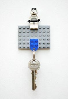 簡単レゴでつくる鍵置き場