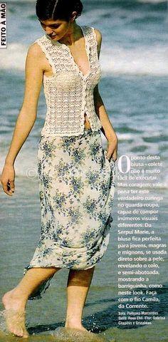 Блуза с «Веерочками» | Блузы | Вязание спицами и крючком. Схемы вязания.