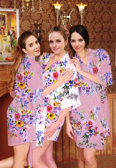 I03340 Personalized Dressing Gown Silk Robe For Women by MilkRobe Flower  Girl Robes 87800f3a3