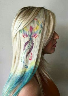 Hair stencils, so cool and beautiful!!