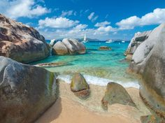 Virgin Gorda is the third-largest of the British Virgin Islands, with natural beauty covering virtually all of its 8.5 square miles. The island offers quiet beaches and coves and flora-filled national parks. Perhaps the prettiest and most popular attraction is the Baths, a seaside area where huge granite boulders form scenic saltwater pools and grottos.