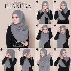 This a simple beautiful hijab tutorial with folds it doesnt look voluminous and . This a simple beautiful hijab tutorial with folds it doesnt look voluminous and you can create as m Turban Hijab, Mode Turban, Hijab Dress, Hijab Outfit, Hijab Chic, Hijab Elegante, Stylish Hijab, Modern Hijab, Square Hijab Tutorial