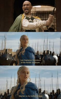 The Game of Thrones. This whole scene is probably one of my favourite TV moments ever!