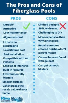 The Pros And Cons Of Fiberglass Pools In 2020 Fiberglass Pools Fiberglass Pool Manufacturers Fiberglass