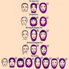 How to do Hijab Style im different face and shapes.   Hijab Tutorial