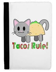 Tacos Rule Taco Cat Design Ipad Mini Fold Stand Case by TooLoud