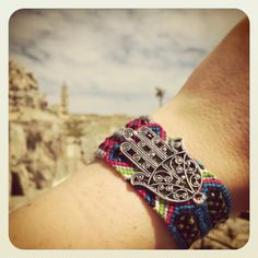 Our #danalevy filigree hamsa hand charm maxi bracelets showing us the way to the Sassi Barisani, Matera