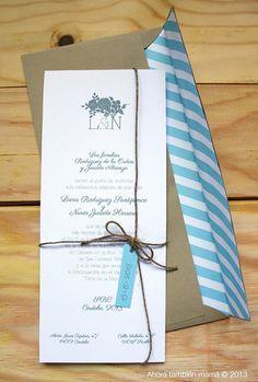 Invitación de boda las familias tienen...