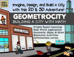 GEOMETROCITY: Create & Build a City Made of Math Using Geometry. A project based learning activity for students to show what they know and how to build a city with math. $