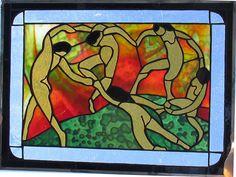 Matisse's Dance by Ellen Serrano, stained glass