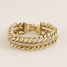 I have a serious weakness for chunky gold jewelry