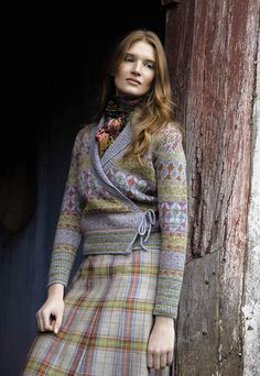 Rowan Magazine 54. From the story, Folk, comes Izmir designed by Marie Wallin using Felted Tweed.