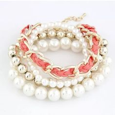 NWOT Pearl and Chain Bracelet NWOT Pearl and chain bracelet. Jewelry Bracelets