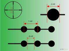 How to Calculate Distances With a Mil Dot Rifle Scope. Mil Dot scopes are optics which allow users to easily calculate distances to a target without fancy equipment. Shooting Targets, Shooting Guns, Shooting Range, Shooting Bench, Shooting Sports, Hunting Rifles, Bow Hunting, Air Rifle, Home Defense