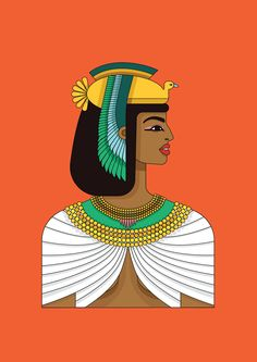 Portfolio of Kiki Ljung, an artist that specialises in bold vector graphics and beautiful decorative patterns. Cleopatra, Ancient Egyptian Costume, Egyptian Drawings, African Art Paintings, Ancient Symbols, Ancient Aliens, Ancient History, Design Theory, Madhubani Art