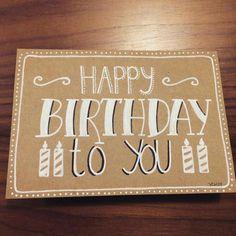 handlettering kaartje tekenen lettering doen we zo echte post is veel leuker verjaardag krijtstift raamtekening craft craftpaper