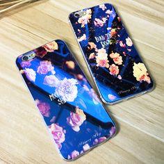 Tpu scintillio per iphone 7 6 6 s 6 più 5 5 s carino luce blu cassa del silicone della copertura posteriore ultra sottile blu ray per iphone 6 6 s