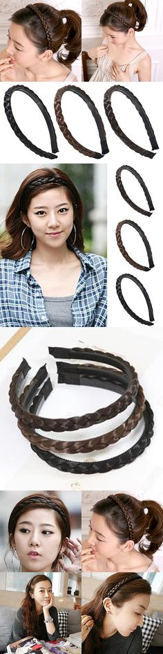 Women Fashion Twisted Wig Braid Hair Band Braided Headband Hair Accessories New Arrival