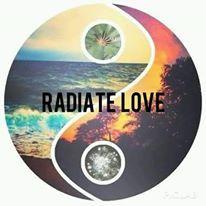 yin yang, radiate love, beach, sunset