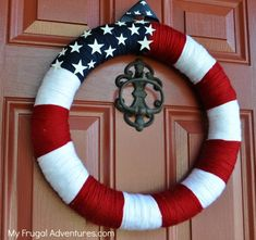 EASY homemade 4th of july wreath
