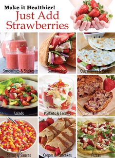 Strawberry recipes for #NatlNutritionMonth! @CA Strawberries has some great ideas here http://bit.ly/1fNIq7b #justaddstrawberries