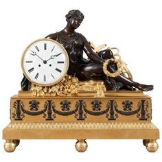 Large Antique French Mantle Clock