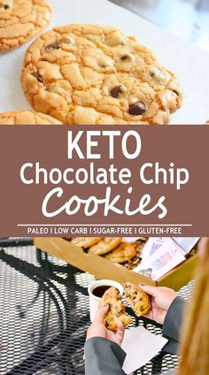 These keto chocolate chip cookies are so easy to make with only 1 bowl and 2 net carbs per cookie! They are so easy to make and they are kid approved! Make them anytime you get that chocolate chip cookie craving…without the guilt! Keto Desserts, Desserts Sains, Keto Friendly Desserts, Keto Snacks, Dessert Recipes, Diet Recipes, Dessert Ideas, Easy Keto Dessert, Dessert Bars