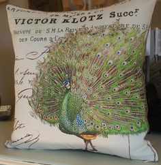 Peacocks Pillow cover by secdus on Etsy, $30.00