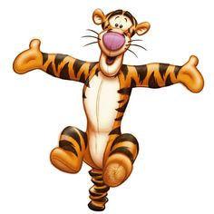 Tigger is an energetic toy tiger who originally introduced in Disney's 1968 short film Winnie the Pooh and the Blustery Day. Tigger originated in A.A. Milne's book The House at Pooh Corner. He also starred in his own feature film The Tigger Movie in 2000.