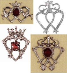 Luckenbooth brooches