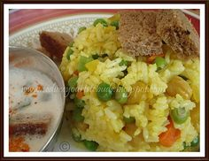 Chickpea Rice & Bread Raita