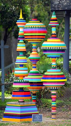 """Topiaries"", a sculpture by artist Christie Beniston, Pasadena, California"