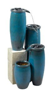 Kenroy Home Agua Indoor/Outdoor Floor Fountain in Blue Glaze Finish This will look good when I redo my living room Living At Home, My Living Room, Living Spaces, Coastal Living, Indoor Outdoor, Outdoor Living, Outdoor Decor, Outdoor Spaces, Outdoor Furniture