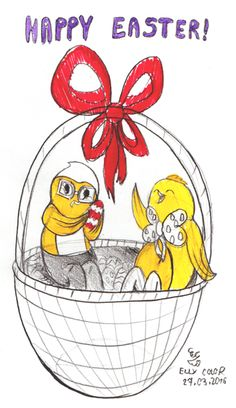 Happy Easter March 2016! - image Baby Chickens, Happy Easter, Tweety, Cute Babies, March, Snoopy, Let It Be, Comics, Funny