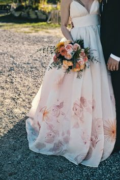 barefoot duchess: Wedding Inspo // Water-colored Gown