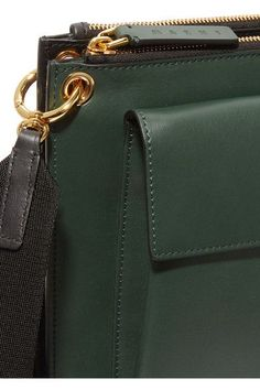 Marni - Wallet Medium Two-tone Leather Shoulder Bag - Forest green - one size