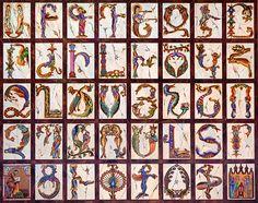 Beautiful Armenian Alphabet -Illuminations Series- by artist Seeroon Yeretzian.