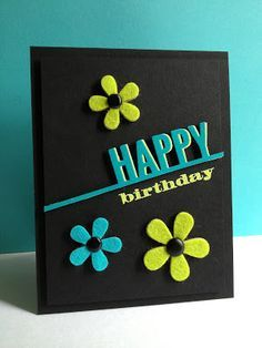 Handmade birthday cards, Black and white and Birthday cards on ...