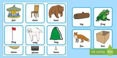 Easter Egg Rhyming Words Matching Game - EYFS, Early Years, KS1