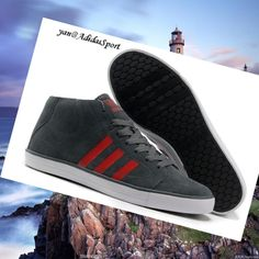 huge discount 0d6dc a62dc Charcoal Red White - Adidas men Vlneo Bball Mid Lifestyle Shoes,There must  be right ones belong to you from our best sneakers.