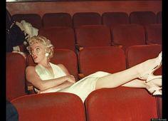 Marilyn Monroe rare studio screening room shot 1954 (Norma Jeane  Mortenson Baker Dougherty DiMaggio Miller)
