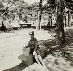 Vintage Summer Photo - Woman Sat in the Shade by ChicEtChoc on Etsy