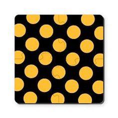 doted orange black Cork Coaster> simple basic  pattern dots, dashes, crosses, check> MehrFarbeimLeben Pattern Dots, Tier Fotos, Bunt, Gingham, Orange, Abstract, Plaid