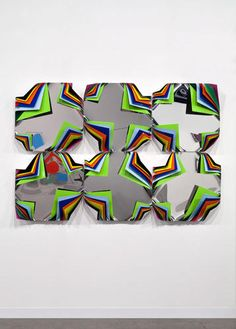 Art. Metal Box (Waterfall Orchid), 2014, Jim Lambie.